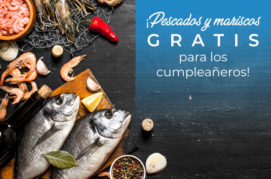 ¡Pescados y mariscos gratis para los cumpleañeros!