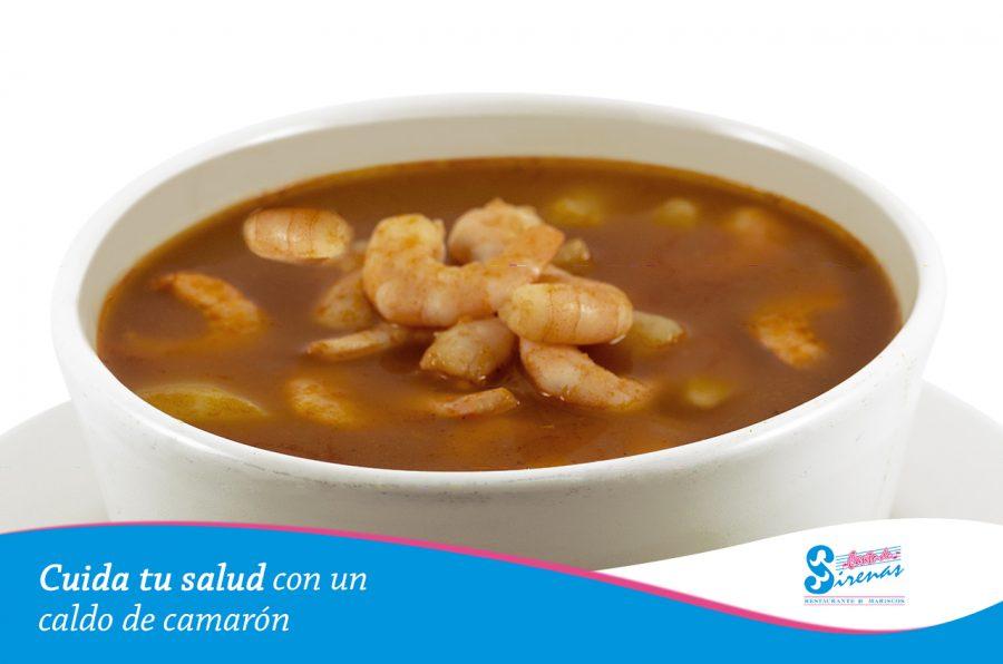Cuida tu salud con un rico caldo de camarón