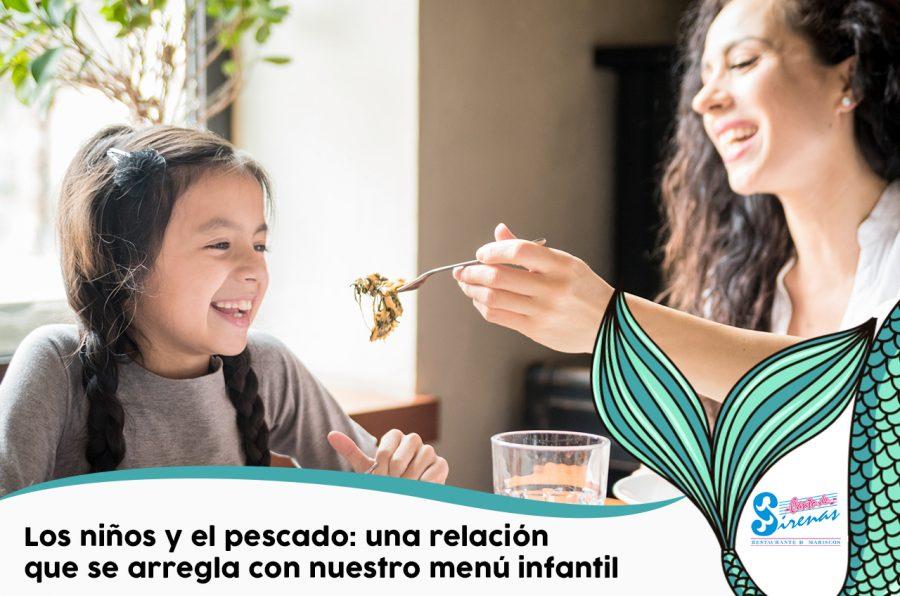 Los niños y el pescado: una relación que se arregla con nuestro menú infantil