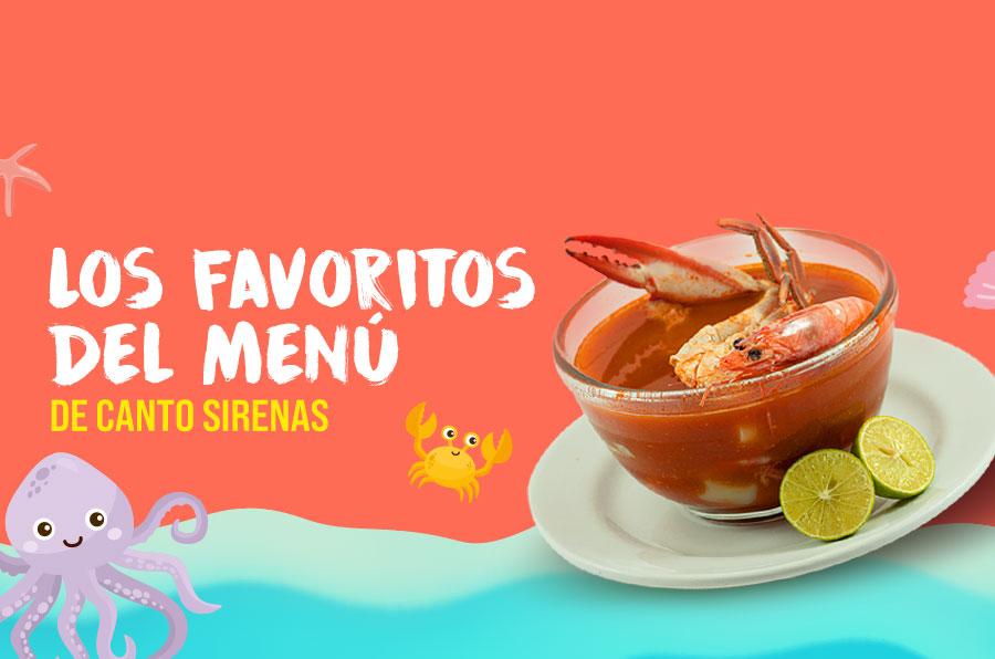 Los favoritos del menú de Canto de Sirenas