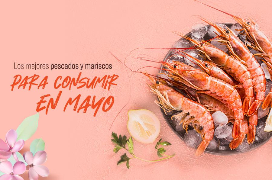Los mejores pescados y mariscos para consumir en mayo